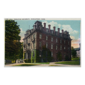 Exterior View of Judd Hall, Wesleyan University Poster