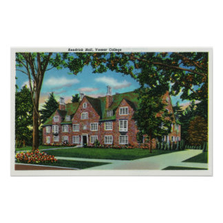 Exterior View of Kendrick Hall, Vassar College Poster