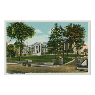 Exterior View of Kingston High School Poster