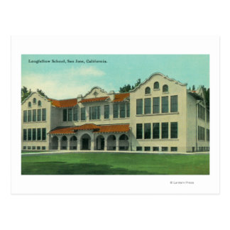 Exterior View of Longfellow School Postcard