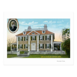 Exterior View of Longfellow's Home # 2 Postcard