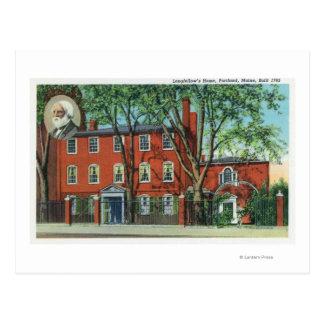 Exterior View of Longfellow's Home 2 Postcard