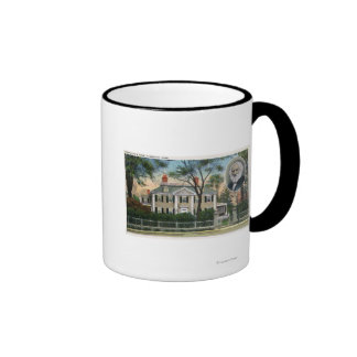 Exterior View of Longfellow's Home Coffee Mugs
