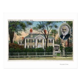 Exterior View of Longfellow's Home Postcard
