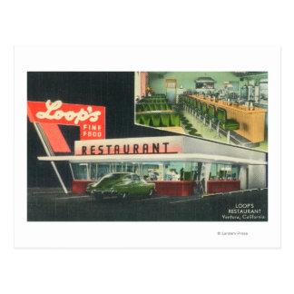 Exterior View of Loop s RestaurantVentura CA Post Card