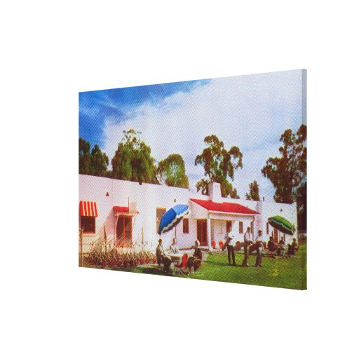 Exterior View of Los Serranos Golf & Country Stretched Canvas Prints