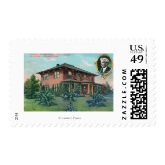 Exterior View of Luther Burbank's Residence Postage