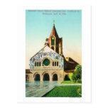 Exterior View of Memorial Church at Stanford U Post Card