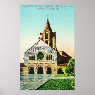 Exterior View of Memorial Church at U Posters