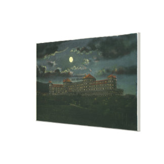 Exterior View of Mt Washington Hotel at Night Stretched Canvas Print