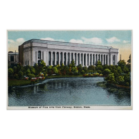 Exterior View of Museum of Fine Arts from Poster