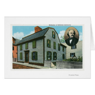 Exterior View of Nathaniel Hawthorne's Card