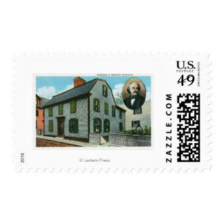 Exterior View of Nathaniel Hawthorne's Postage
