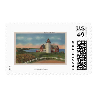 Exterior View of Nobska Lighthouse Postage Stamps