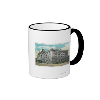Exterior View of NY Central Railroad Station Ringer Coffee Mug