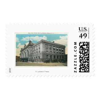 Exterior View of NY Central Railroad Station Postage