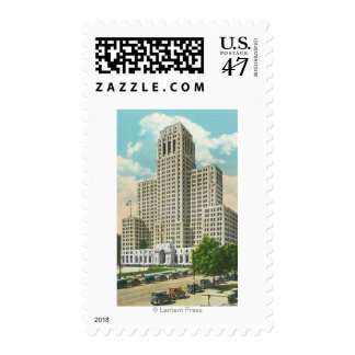 Exterior View of NY State Office Bldg Postage