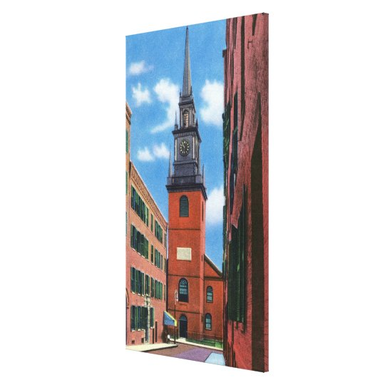 Exterior View of Old North Church Canvas Print