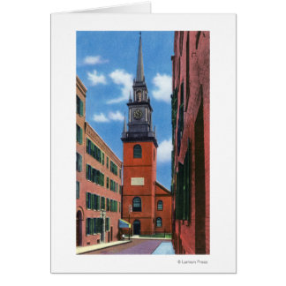 Exterior View of Old North Church Card
