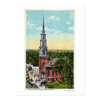 Exterior View of Park Street Church Postcard