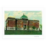 Exterior View of Placer County High School Postcard