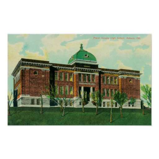 Exterior View of Placer County High School Print