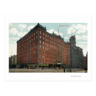 Exterior View of Powers Hotel Postcard