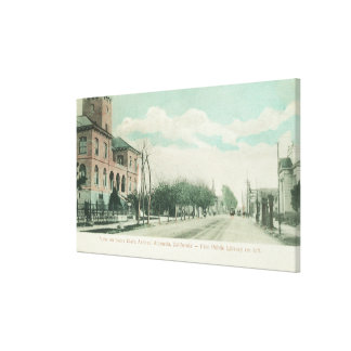 Exterior View of Public Library on Santa Clara Canvas Print