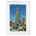 Exterior View of RCA Bldg, Rockefeller Center Greeting Card