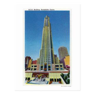 Exterior View of RCA Bldg, Rockefeller Center Postcard