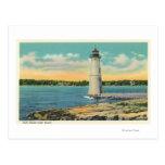 Exterior View of Rock Island Light House Postcard
