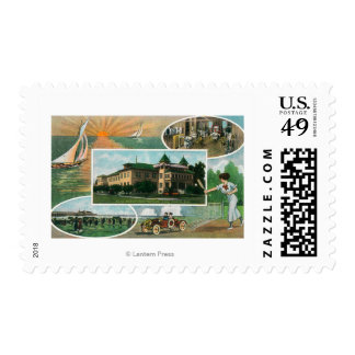 Exterior View of Sanitarium and Scenic Views Postage