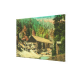 Exterior View of Saw Mill on Bodfish Creek Gallery Wrapped Canvas