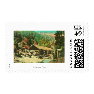 Exterior View of Saw Mill on Bodfish Creek Postage