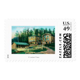 Exterior View of School House and Post Office Postage