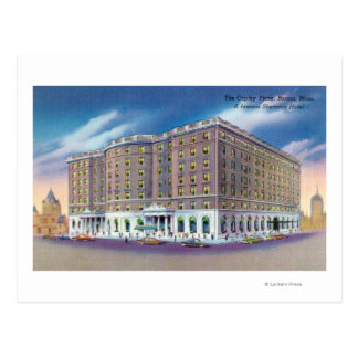 Exterior View of Sheraton Hotel in Copley Postcard