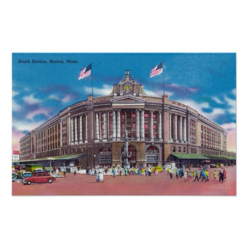 Exterior View of South Station Poster