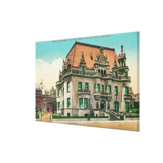 Exterior View of Spreckels Mansion, Van Ness Canvas Print