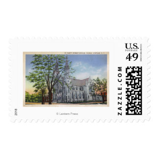 Exterior View of St. Mary's Church Stamps