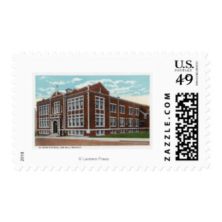 Exterior View of St. Mary's School and Hall Stamp