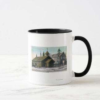 Exterior View of St. Mathew's Church and Mug