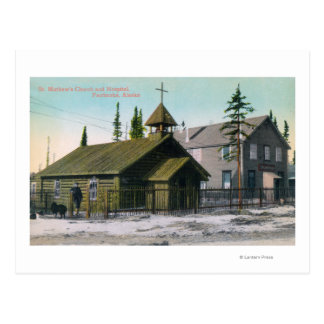 Exterior View of St. Mathew's Church and Postcard