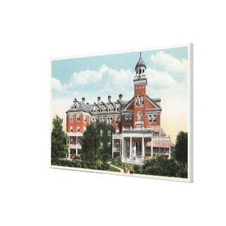 Exterior View of St Vincent Hospital Canvas Print