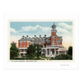Exterior View of St. Vincent Hospital Postcard