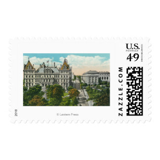 Exterior View of State Capitol & Educational Postage