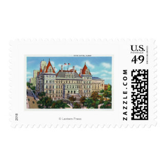 Exterior View of State Capitol Postage