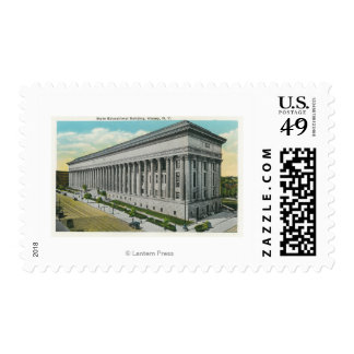 Exterior View of State Educational Building Postage
