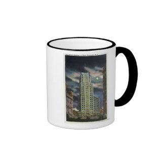 Exterior View of State Tower Building at Night Coffee Mug
