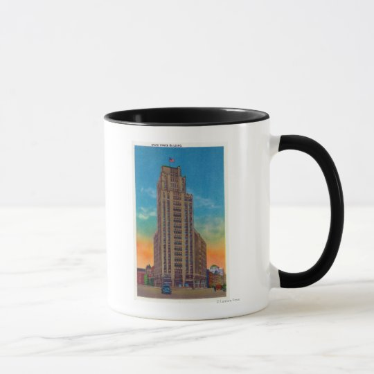 Exterior View of State Tower Building Mug