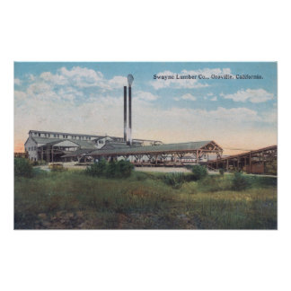 Exterior View of Swayne Lumber CoOroville, CA Posters